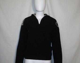 Closing Shop 40%off SALE WW II Korea Vietnam Seafarer Uniform 1960s Cracker Jack Blue Wool Shirt Pullover peace sign patches Sailor Navy rai
