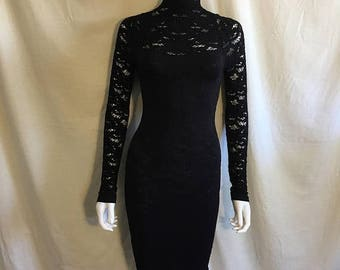 Closing Shop 40%off SALE 90s BEBE Black stretch bodycon Dress