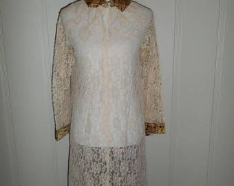 Closing Shop 40%off SALE lace sheer see through cover up   dress        rhinestones