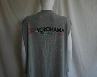 40% off SALE YOKOHAMA Racing tank top muscle t shirt 90s Vintage