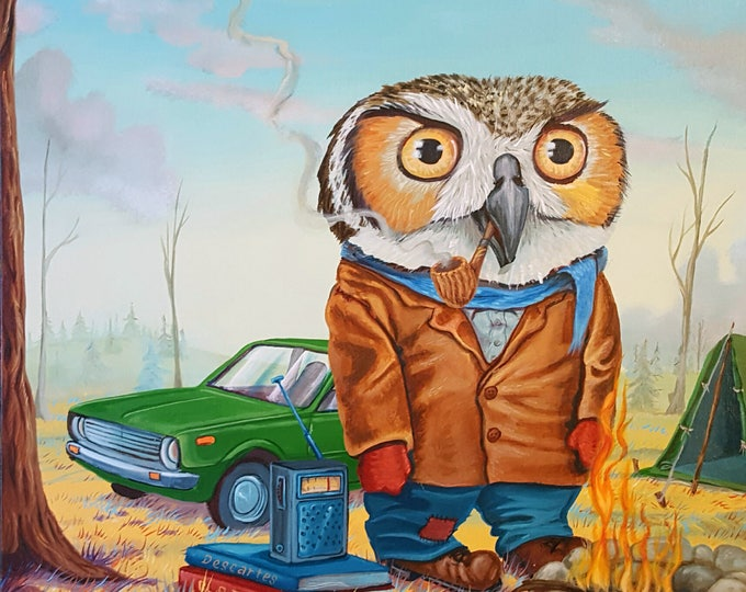 Featured listing image: The Owl Philosopher - Limited Edition Print by Mr. Hooper of Nashville, Tennessee
