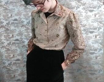 Vintage 70s black Velveteen high waist skirt -  wiggle skirt