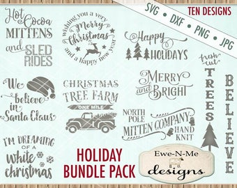 Christmas svg bundle - christmas svg files - Holiday svg bundle - old antique truck christmas tree svg  - Commercial use svg, dxf, png, jpg