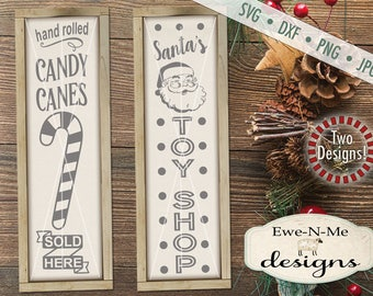 Christmas svg - Candy Cane svg - Santa svg - Toy Shop svg - Christmas svg bundle - Porch Sign svg -  Commercial use svg, dxf, png, jpg