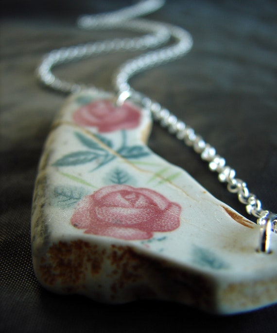 Summer Romance sea pottery necklace