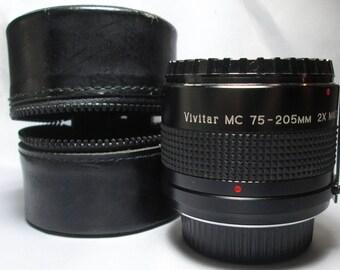 Vintage Vivitar 75 205mm 2x Matched Multiplier