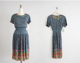 25% OFF SALE spring floral dress | gauze dress | 90s floral dress