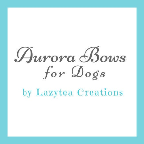 Aurora Bows for Dogs by Lazytea Creations