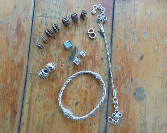 Brighton charm bracelets and 13 Charms NWOT