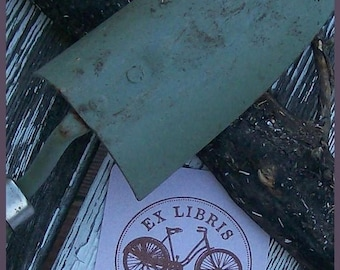 Xmas in July Antique Bicycle Personalized Ex Libris Rubber Stamp G07