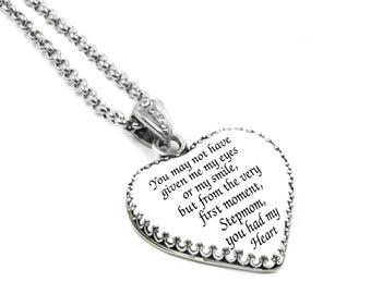 Stepmother Jewelry, Step Mother Gift, Stepmom Pendant, Brides Stepmom, Wedding Jewelry, Bridal Jewelry