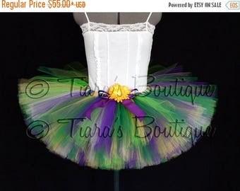 SUMMER SALE 20% OFF Mardi Gras Tutu - Bright Spring Mix Tutu - Adult Teen Pre-teen Tutu - Custom 12'' Sewn Tutu