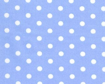 Robert Kaufman Pimatex dots in Light Blue, Periwinkle, yard