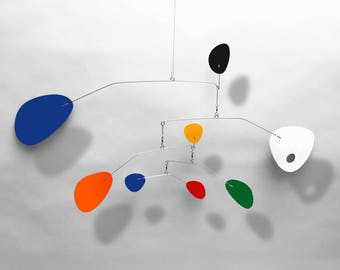 Modern Hanging Mobile Art Sculpture Modernist by Julie Frith Small Mobiles great for Nursery or skylight Home Decor