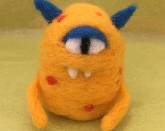 One eyed Pete, the needlefelted monster