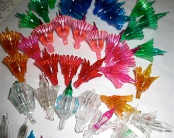 Vintage Multi Color String Light Bulbs - Christmas Decor  - Winter Decor