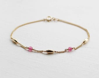 mira - gold and pink bracelet