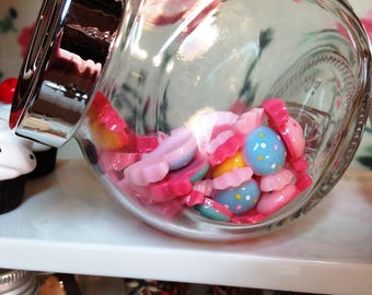 American Girl Our Generation 18 Inch Doll Large Glass Candy Jar of Faux Bon Bons