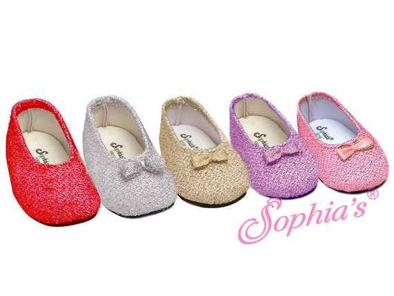 Glitter Dress Shoes - 18 Inch Doll Shoes