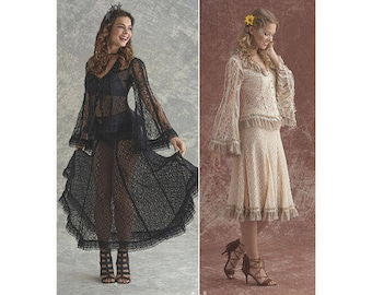 Simplicity Pattern 8362 Misses' Lace Blouse and Skirt In Two Styles Plus Size 14-22