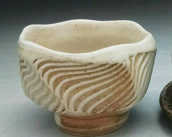 WoodFired Porcelain Guinomi  - Sake Cup