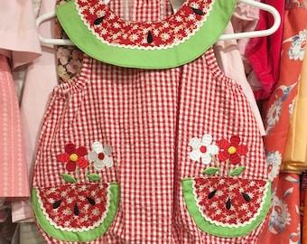Watermelon Romper 0/3 Months