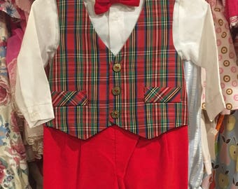 NOS Christmas Suit 12/18 Months