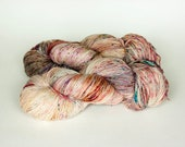 CLOSURE, twisted red label hand dyed merino, cashmere, silk fingering weight yarn