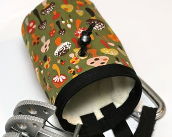 Super Food, a Hand Crafted Mushroom Chalk Bag and Belt, Rock Climbing