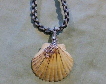Cape cod seashell pendant in sterling silver