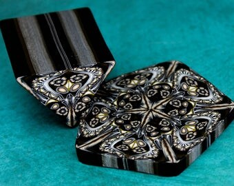 ONE Polymer Clay Triangle Cane (hexagon kaleidoscope not included) (23D)