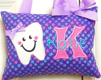 Tooth Fairy Pillow - Flowers - Custom Made - Personalized
