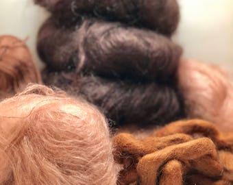 Mohair, wool, wool roving  Doll Hair