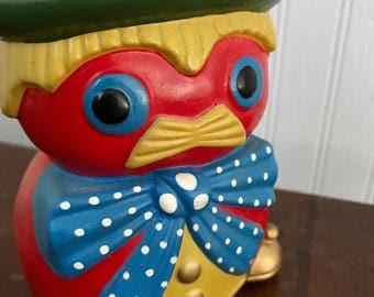 Vintage Quirky Owl Clown Walrus Man Bank