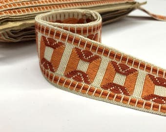 "Vintage Trim by the Yard - Woven Upholstery Trim - French Passementerie Trim - Border Trim - 45mm / 1.77"" wide"