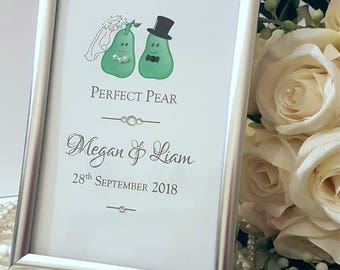 Wedding Gifts, Perfect Pear Gift, Wedding Gift Ideas, Bride and Groom Gifts, Wedding Gifts UK, Cute Wedding Present, Personalised Gifts