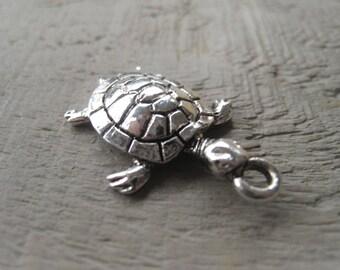 Silver Sea Turtle Charm Turtle Pendant Silver Pendant Item No. 9852