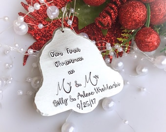 Our First Christmas As Mr and Mrs Ornament, Couples first Christmas Ornament, First married Christmas, Wedding Ornament