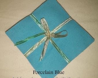 Solid PORCELAIN BLUE, FLANNEL Fabric Squares,  Rag Quilt, Traditional Quilting, pick size & quantity, We Cut You Sew