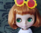 Twiggy Twiggy S04-FYP Blythe Flower Glasses - Yellow w/ Pink Lenses サングラス ブライス
