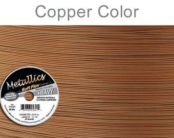 024 - 30 Feet SoftFlex Metallics COPPER Beading Wire