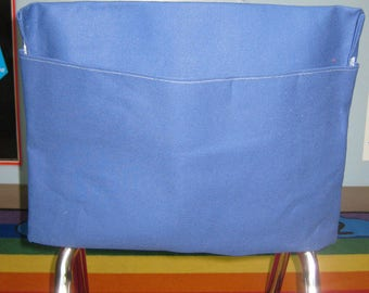 1 ROYAL BLuE Chair Pockets Seat Desk Sack Colored Duck Cloth Chair Pocket Factory Chair Pockets are Washable YOU CHOOSE the SiZE