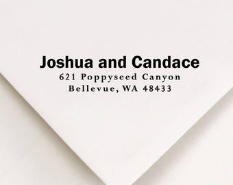 Personalized Return Stamp, Address Stamp, Return Address Stamp, Stamp For Address, Self Inking Stamp, Wedding Gift Stamper, (801)