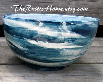 Custom color pottery bowls made to order dinnerware custom cereal bowl ice cream bowl popcorn bowl snack bowl salad bowl rustic pottery