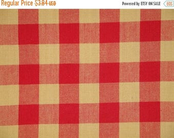 SALE SALE SALE Buffalo Check Fabric | Red And Tan Buffalo Check Fabric | Farmhouse Check Fabric | Cotton Home Decor Fabric | Rustic Fabric |
