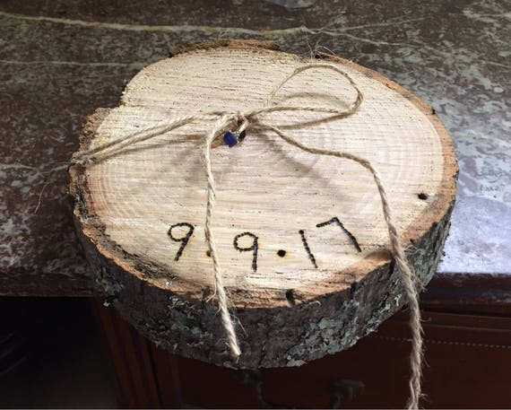 Ring Bearer wood slice