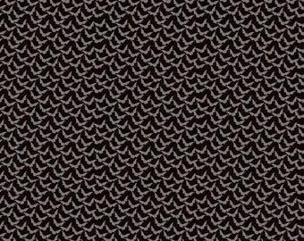15%OFF Penny Rose Fabrics Trick or Treat Stripe Bats Black