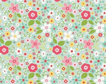 EXTRA15 20% OFF Riley Blake Designs Garden Girl by Zoe Pearn - Floral Mint
