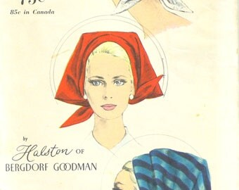 UNCUT Halston Head Wrap from Bergdorf Goodman Scarf  One Size Vogue 6676