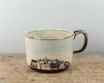 Wide Village Mug